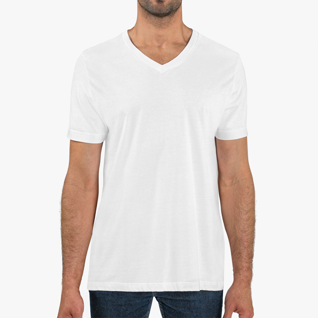 Mens V-Neck Cotton Tee