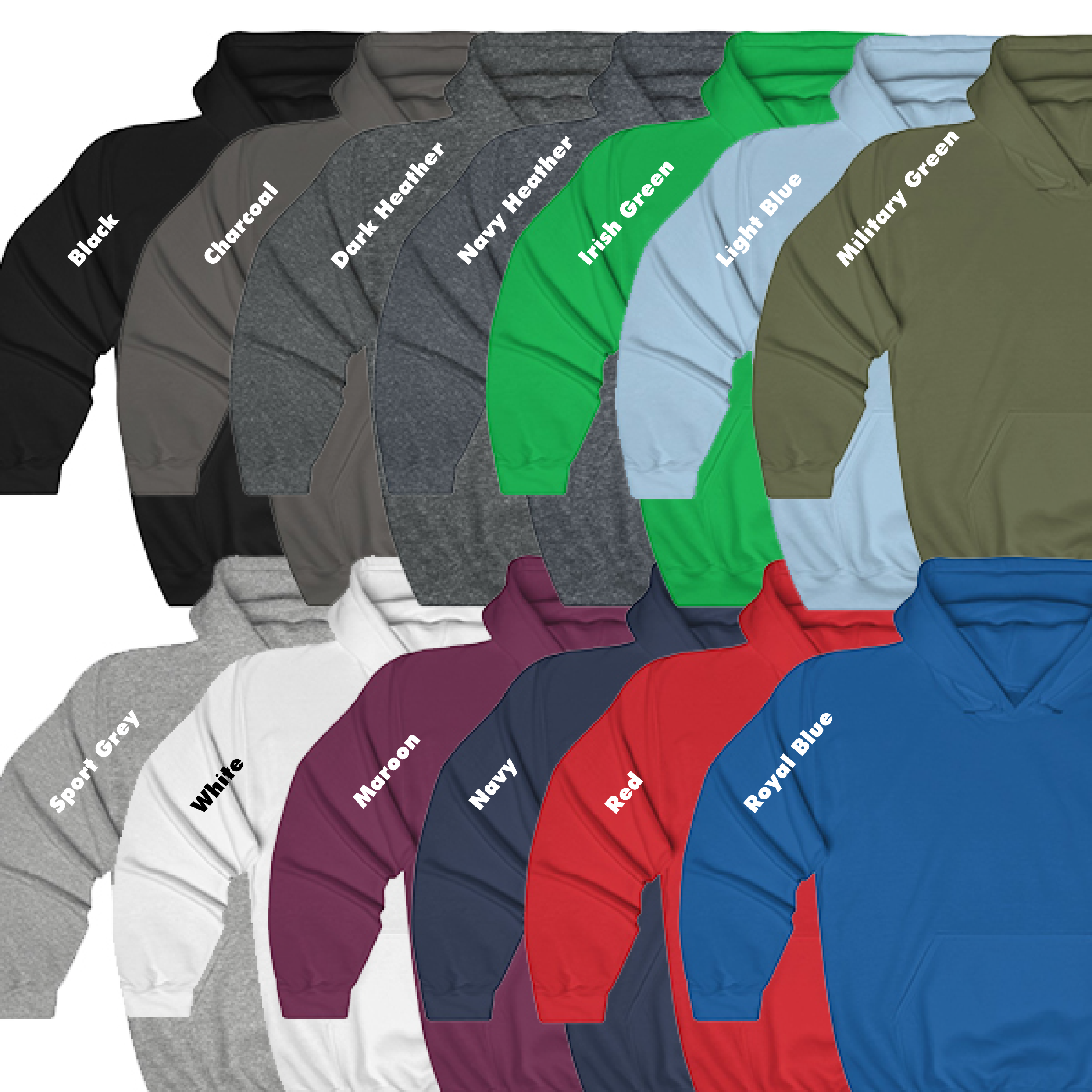 Pull Over Hoodie Colors