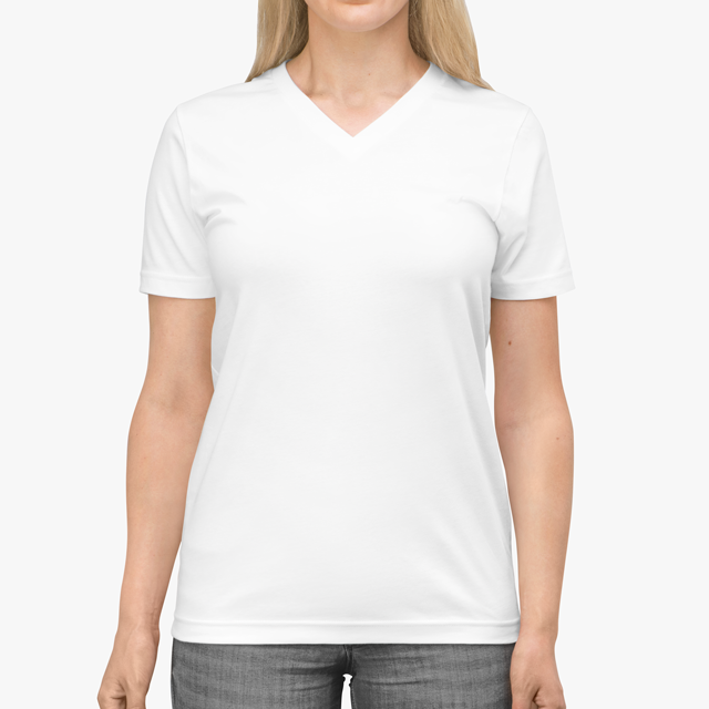 Womens V-Neck Cotton Tee